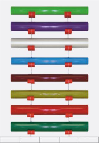 Porte rouleaux mural pour rangement adhésif StockRolls